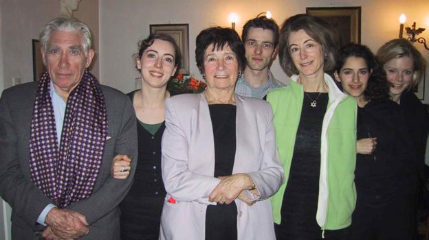 Frank Finlay, Julia Rayner, Dr. Halina Szpilman, Ed Stoppard, Maureen Lipman, Jessica Kate Meyer, Emilia Fox at Family Szpilman home in Warsaw